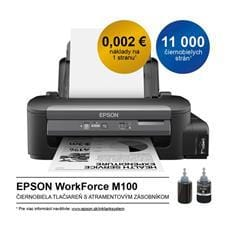 Tlačiareň Epson WorkForce M100, A4 mono, USB, LAN