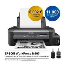 Tlačiareň Epson WorkForce M105, A4 mono, USB, WiFi