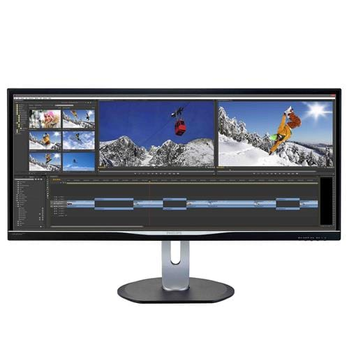 Monitor Philips 3470UP, 34'', LED, 3440x1440, IPS, DP, USB, repro, pivot