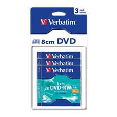 Média mini DVD-RW Verbatim jewel case 3, 1.4GB, 2x, hard coat blisterpack