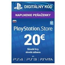 PlayStation Live Cards 20 EUR Hang pre SK PS Store