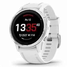 Garmin fénix 6S Glass Silver, White Band 42mm