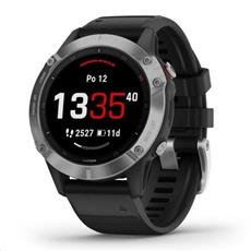 Garmin fénix 6 Glass Silver, Black Band 47mm