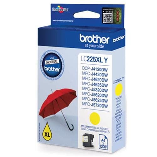 Kazeta BROTHER LC-225XL Yellow MFC-J4420DW/J4620DW/J5320DW/J5620DW/J5720DW