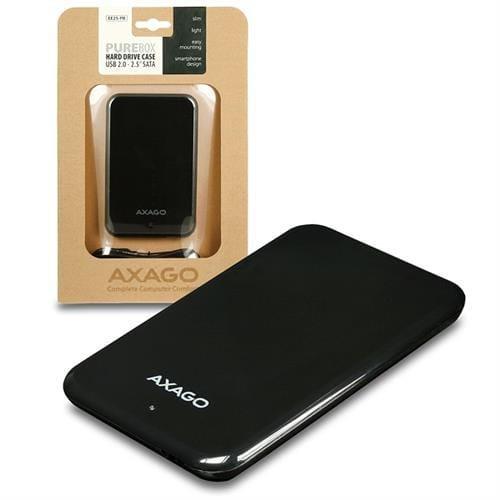 AXAGO USB2.0 - SATA 2.5'' externý PURE box BLACK EE25-PB