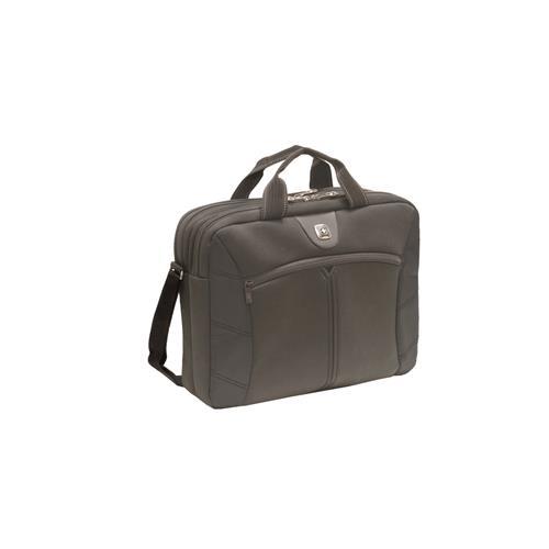 """WENGER SHERPA - 16"""" dvojitá štíhla taška na notebook, čierna 600653"""
