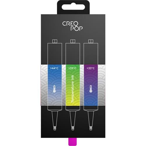 CreoPop Temperature Sensitive Ink: Blue to Transparent, Bright Green to Yellow, Purple to Blue