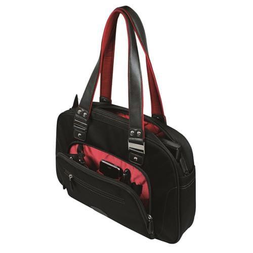 Dámska taška Port ADELAIDE na notebook 15.6'' - čierno-červená 150025