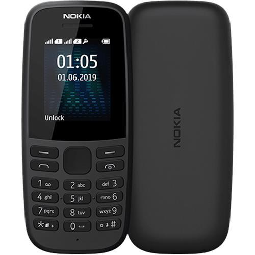 Nokia 105 Dual Sim 2019 Black 16KIGB01A04