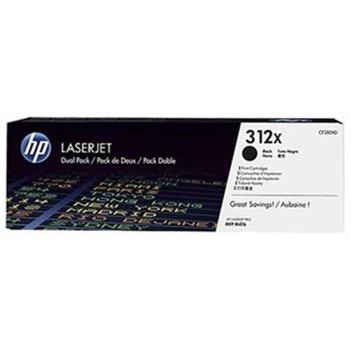 Toner HP CF380XD Čierny HP312X Dvojbalenie pre HP LJ Pro M476, 2x4400str.