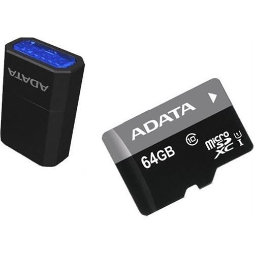 ADATA 64GB microSDXC Premier USH-I Class 10 + micro-čítačka V3 AUSDX64GUICL10-RM3BKBL
