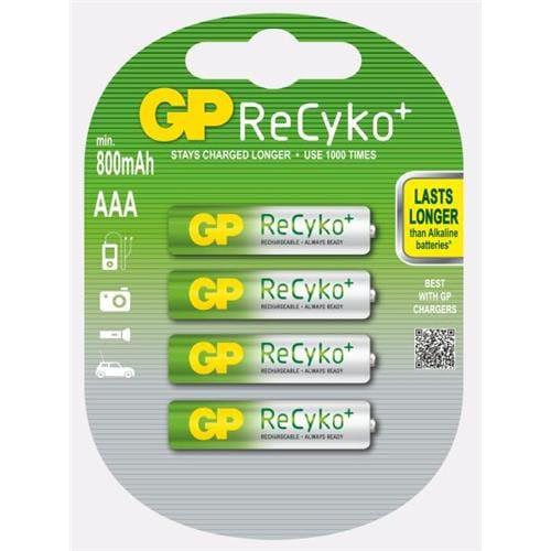 Nabíjacie batérie GP AAA Recyko+ (800 mAh 4ks) 1033114063