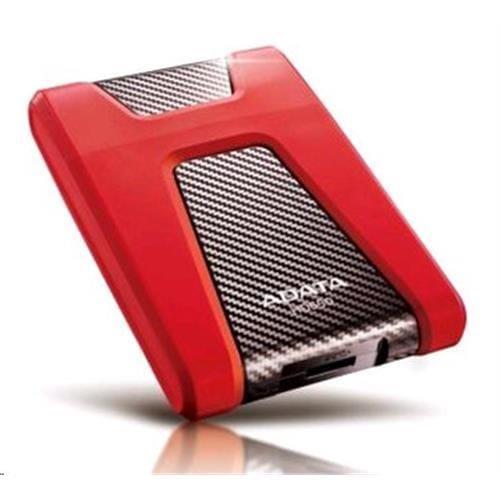 """Ext. HDD ADATA HD650, 1TB, 2.5"""", USB3.0, červený, vode a nárazom odolný AHD650-1TU3-CRD"""