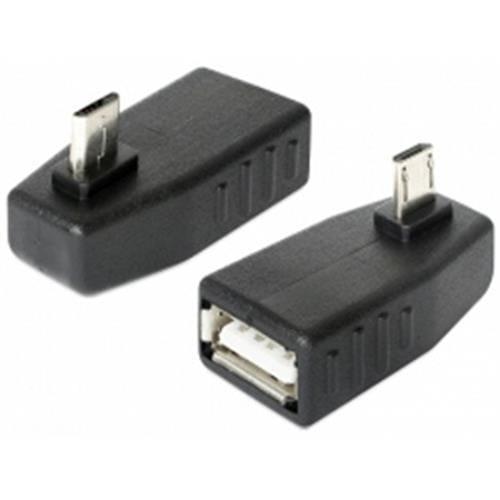 Delock adaptér USB micro-B samec > USB 2.0-A samica, OTG, pravoúhly 270° 65473