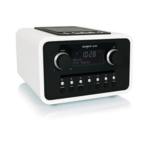 Rádio Tangent ALIO CD/FM s iPod/iPhone dokovacou stanicou biele 21016