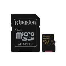 Kingston 64GB microSDHC/SDXC Class U3 UHS-I ( r90MB/s, w45MB/s ) + SD adaptér
