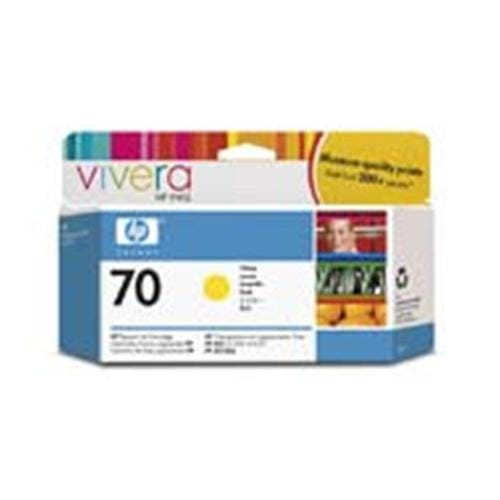 Kazeta HP HPC9454A No. 70, 130ml, yellow cartridge with Vivera Ink.