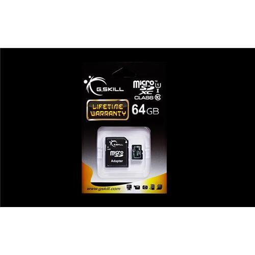 G.Skill pamäťová karta Micro SDXC 64GB Class 10 UHS-1 + adaptér FF-TSDXC64GA-U1
