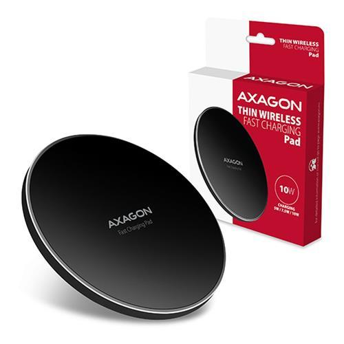 AXAGON WDC-P10T, tenká bezdrôtová rýchlonabíjačka, Qi 5/7.5/10W, micro USB