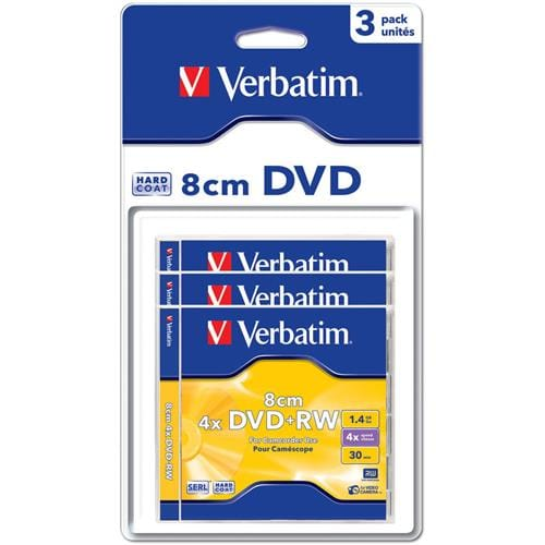 Média mini DVD+RW Verbatim jewel case 3, 1.4GB, 4x, blisterpack