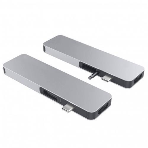 HyperDrive SOLO USB-C Hub pre MacBook & ostatné USB-C zariadenia - Strieborný HY-GN21D-SILVER