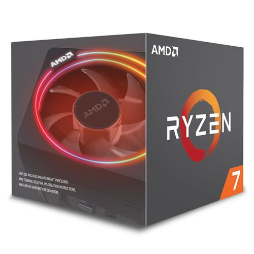 CPU AMD Ryzen 7 2700X, Processor BOX, soc. AM4, 105W, Wraith Prism chladič YD270XBGAFBOX