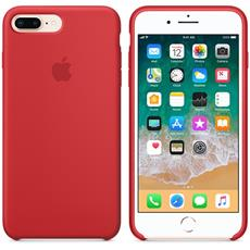Apple iPhone 8 Plus / 7 Plus Silicone Case - (RED)