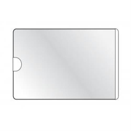 Samolepiace vrecko vizitkové s otvorom zboku DURABLE 63x94mm 100ks DU837919