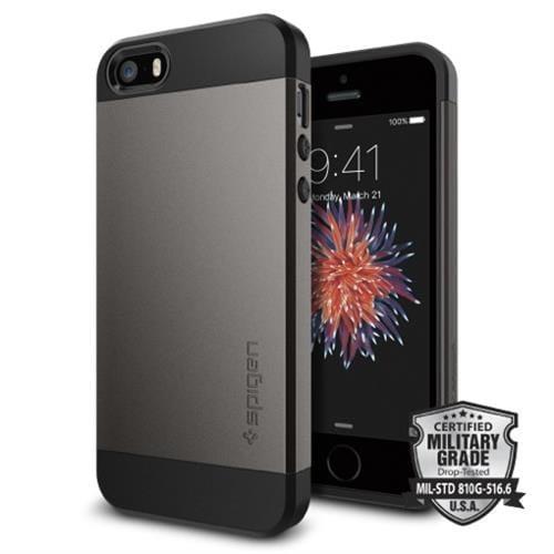 Spigen kryt Slim Armor S pre iPhone SE - GunMetal 041CS20175