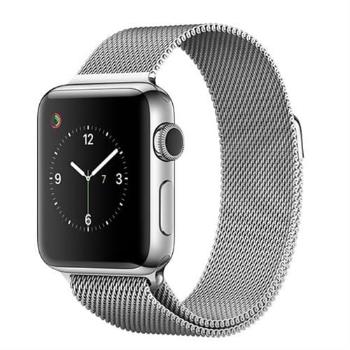 Apple Watch Series 2, 38mm Stainless Steel Case with Silver Milanese Loop