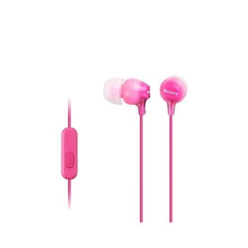 Slúchadlá SONY MDR-EX15AP do uší s mikrofónom, Pink MDREX15APPI.CE7
