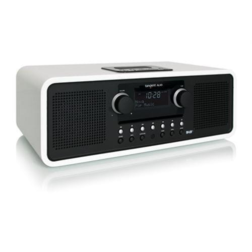 Rádio Tangent ALIO stereo CD/DAB+ s iPod/iPhone dokovacou stanicou biele 21024