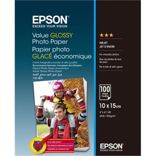 EPSON Value Glossy Photo Paper 10x15cm 100 sheet C13S400039