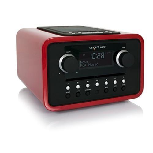 Rádio Tangent ALIO CD/FM s iPod/iPhone dokovacou stanicou červené 21017