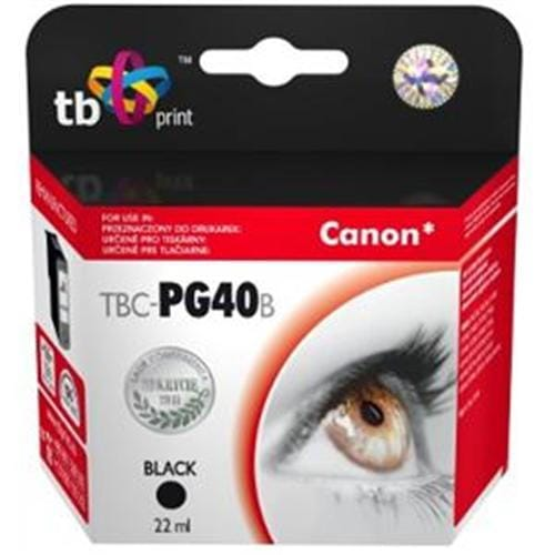 Alternatívna kazeta TB kompat. s CANON PG-40 Black TBC-PG40B