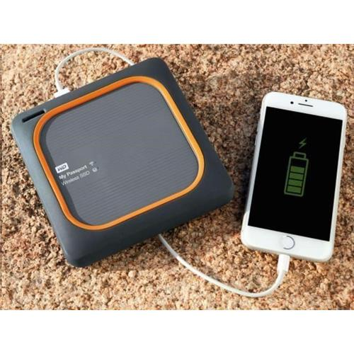 WD My Passport Wireless SSD 1TB Ext. USB3.0, SD Card, WDBAMJ0010BGY-EESN