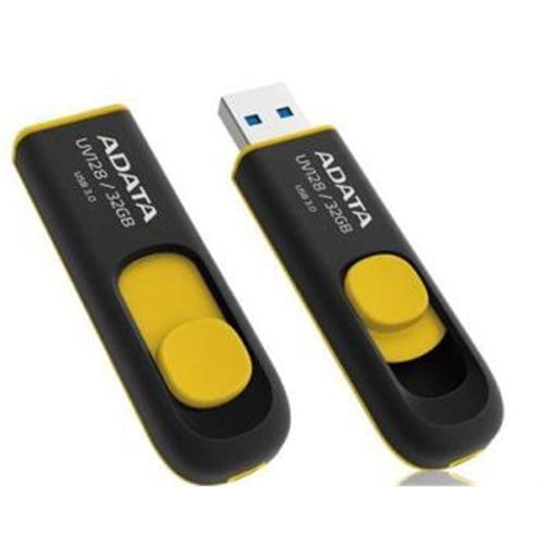 USB Klúč 32GB ADATA UV128, žltý (USB 3.0) AUV128-32G-RBY