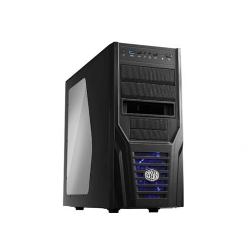 Skrinka CoolerMaster miditower Elite 431 Plus,ATX,black edition,USB3.0, XDocking, bez zdroja, priehl. bočnica