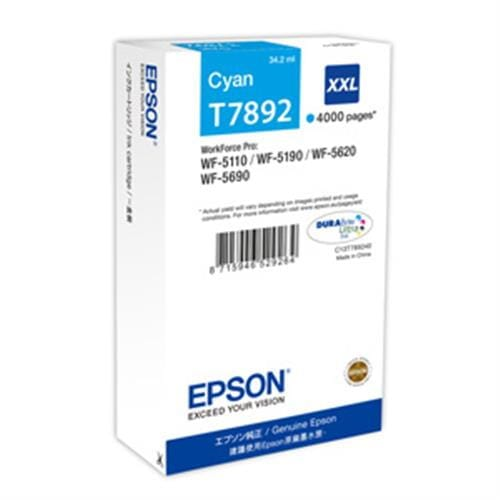 Kazeta EPSON WorkForce WF5000 seria cyan XXL (4.000 strán)