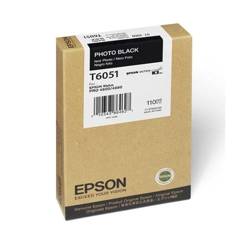 Kazeta EPSON T605 Singlepack photo black 110ml