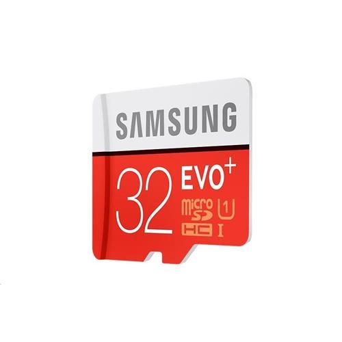 Samsung 32GB microSDHC EVO Plus (Class 10 UHS-I) + SD adaptér MB-MC32GA/EU