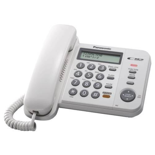 Panasonic KX-TS580FXW jednolinkovy telefon / biely