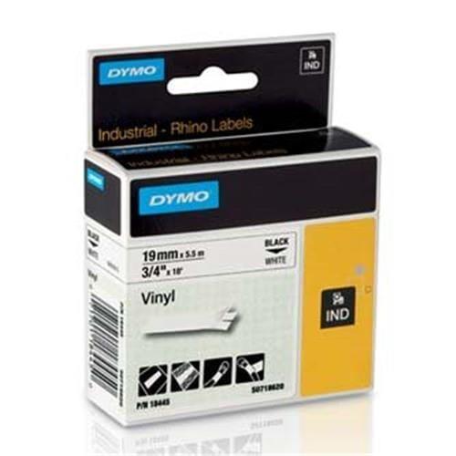 Páska DYMO 18445 PROFI D1 RHINO Black On White Vinyl Tape (19mm) S0718620