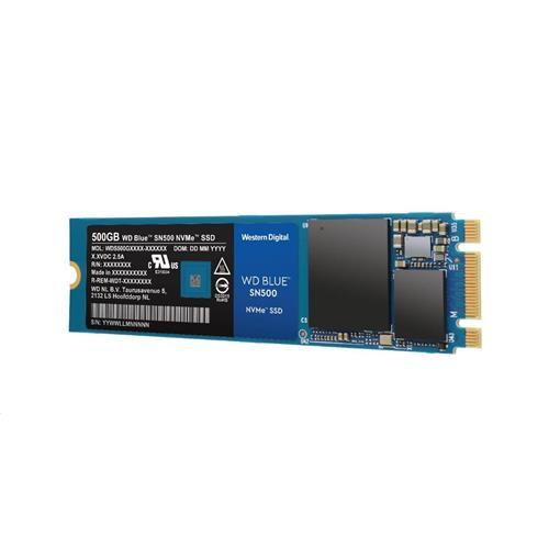 SSD 500GB WD Blue SN500 NVMe M.2 PCIe Gen3 2280 WDS500G1B0C