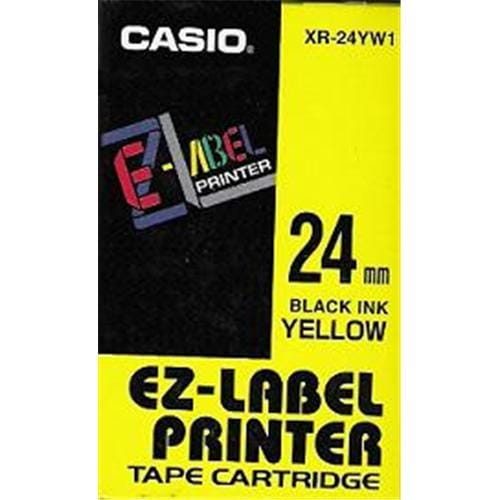 Páska CASIO XR-24YW1 Black On Yellow Tape EZ Label Printer (24mm)