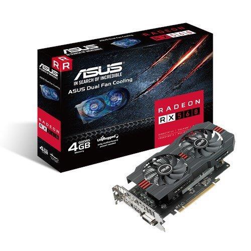 ASUS RX560-4G 4GB/128-bit, GDDR5, DVI, HDMI, DP 90YV0AH5-M0NA00