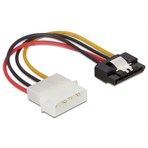 Power Adapter Molex 4-pin na SATA 15-pin, 12cm, kovová západka