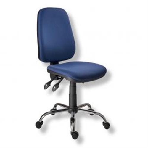 Kancelárska stolička 1140ASYN C chróm/modrá AM112T AN114001