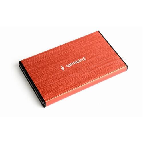 GEMBIRD externý box na 2.5' HDD, USB 3.0, červený EE2-U3S-3-R