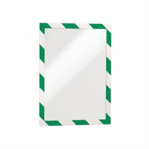Samolepiaci Duraframe Security A4, zeleno-biely, bal.2 ks DU494431